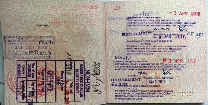 One year Thailand Retirement Visa