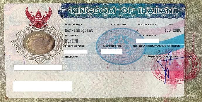 Non Immigrant B visa thailand