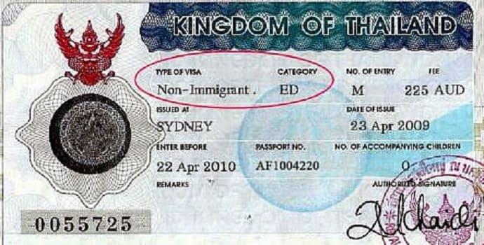 Thai visa ED