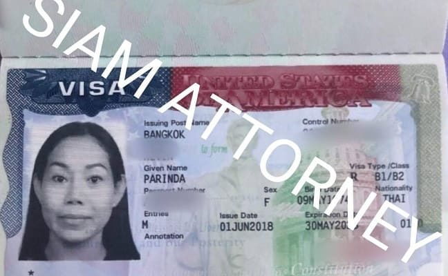 meaning of us tourist visa thailand