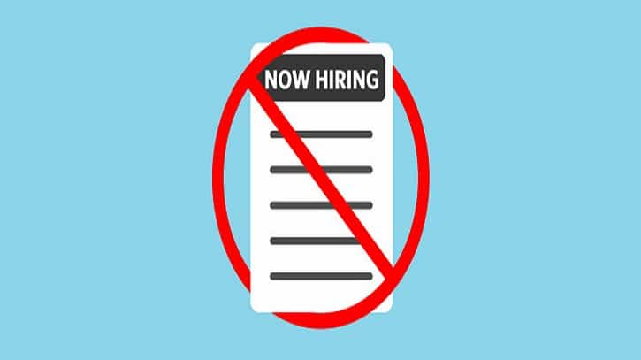 list of prohibited job